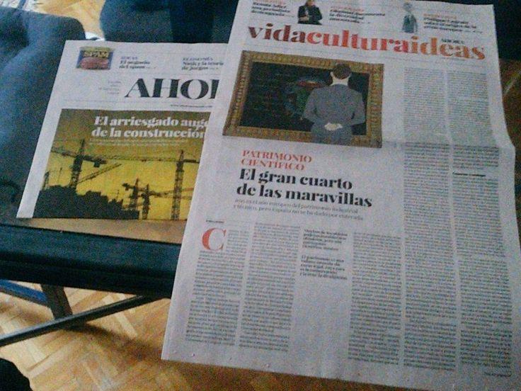 Patrimonio científico. El gran cuarto de las maravillas. Ahora Semanal nº 0L. 5 de junio de 2015.