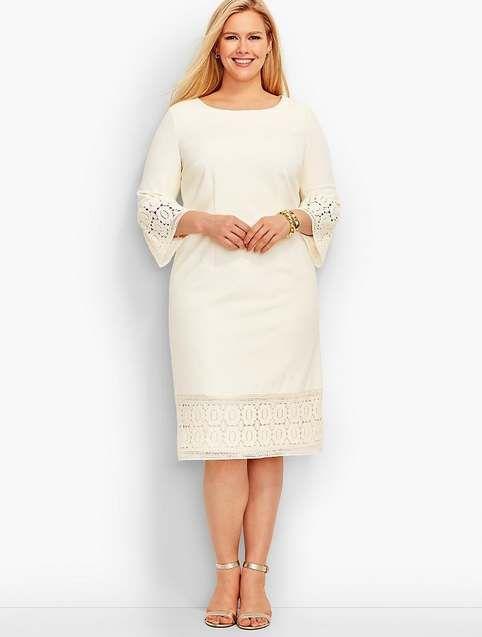 Повседневные платья для полных женщин американского бренда Talbots осень 2017