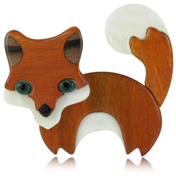 Les Nereides Nobles Betes - Fox Brooch ($195) ❤ liked on Polyvore
