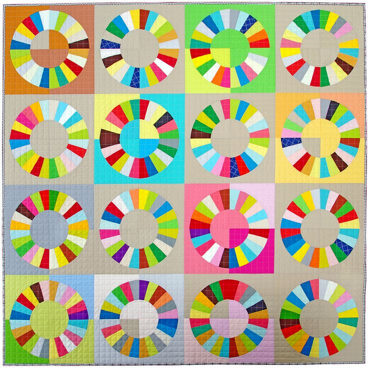 Kona Color Wheel Quilt | Red Pepper Quilts 2015