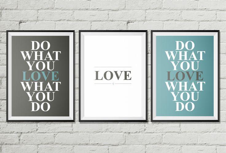 Do What You Love - A télécharger : Affiches, illustrations, posters par rgb