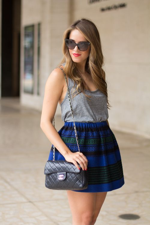 Gal Meets Glam: NYFW Day 1: Gal Meeting, Hair Colors, Julia Engel, Plaid Skirts, Offices, Meeting Glam, Bloggers Outfits, Cute Skirts, Glam Outfits