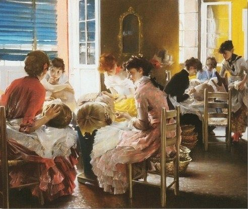 Robert Frederick Blum (American artist, 1857–1903) The Lacemakers