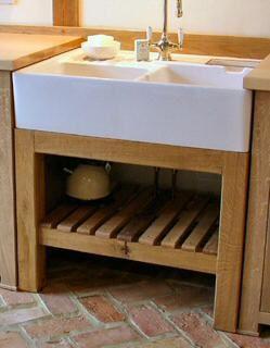 freestanding kitchen oak sink unit - Kitchen Sink Stands