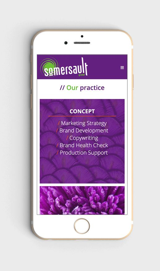 Somersault Group website redesign – Design + build – responsive web design
