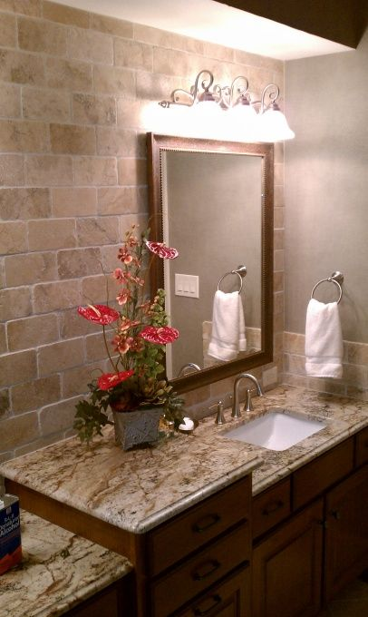 bathroom remodel just finishing up a project in goldsboro nc sienna bordeaux tops - Granite Bathroom Designs
