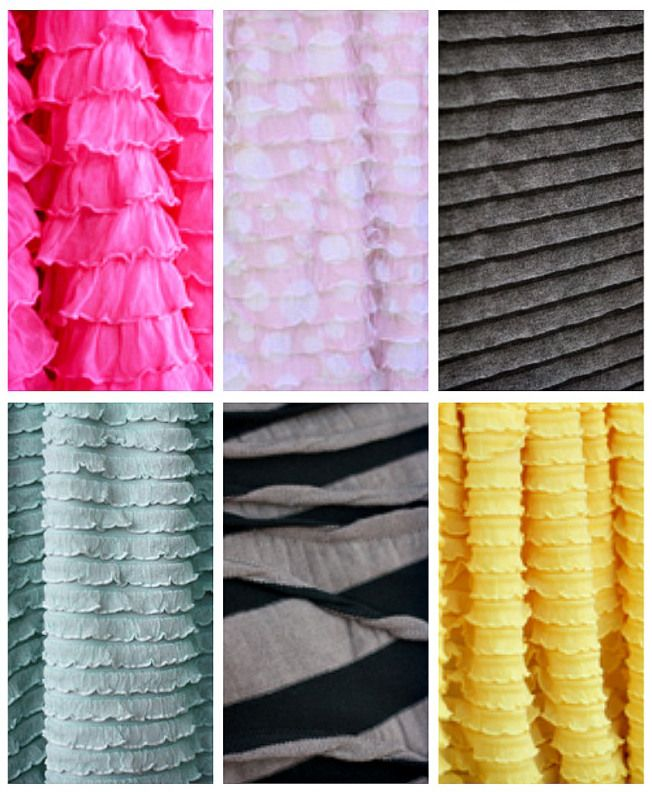 ruffle fabric collage