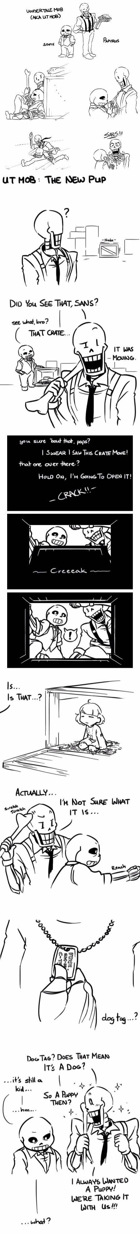 Sans, Papyrus, and Frisk - Undertale MobsterUT AU - comic