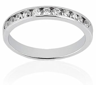 Low Base Channel Set Round Cut Diamond Wedding Band Perfect To Fit Next And Under