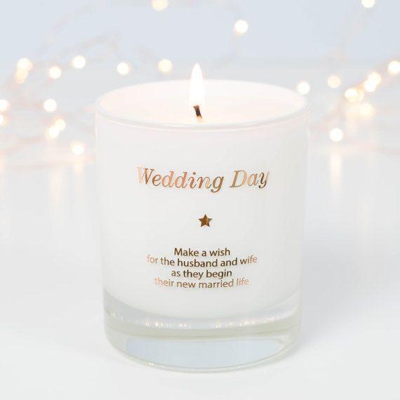 Wedding Day Candle Wedding Candle Gifts Wedding Gift Gift Etsy Joy Candle Candle Gift Blessing Candles