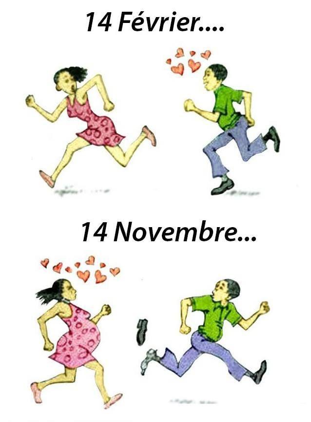 9 mois après la St Valentin.