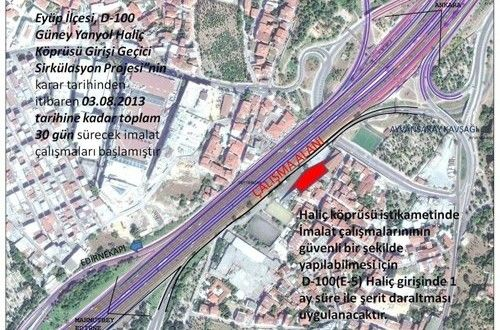 Haliç Köprüsü'ndeki çalışma trafiği felç etti  