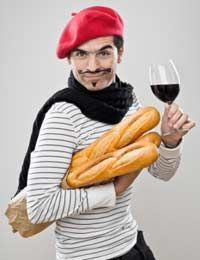 See if we spot anyone who actually looks anything like the 'stereotyped' french man. (somehow think not)