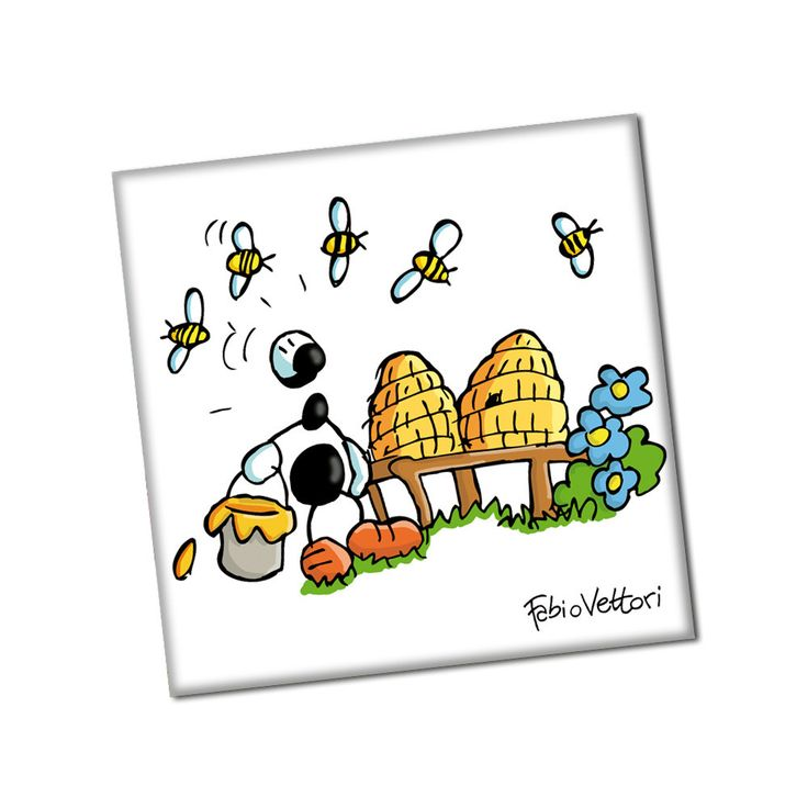 "Magnete ""Api"" | Le Formiche di Fabio Vettori #formiche #magneti #gift #magnet #calamita #hobby #api #bees #honey #miele"