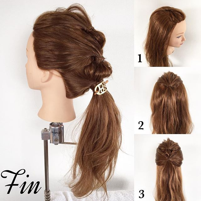#mayahairNO77 のアレンジのやり方です♪(๑ᴖ◡ᴖ๑)♪ 【アレンジプロセス】 ①前髪のポンパドールを作ります。 ②はち上を1つに結びます。 ③耳上辺りまでの髪を②の上で1つに結びます。 Fin→全ての髪を1つに結び、毛束を引き出して、バランスを整えます。この時、横から見たら山ができてるような形になるように整えて下さい。 #mayahairアレンジ動画 参照  #簡単アレンジ#セルフアレンジ#波ウェーブ#クルリンパ#お洒落#ヘアアレンジ動画#ポニーテール#ポンパドール#ヘアアレンジ#ヘアセット#髪型#ヘアスタイル#ヘアアクセ#シェリヘアデザイン#福岡#ママ美容師#beautiful#cute#love#girl#hairarrange#hair#hairset#Fashion#CHERIEhairdesign#salon#hairstyle