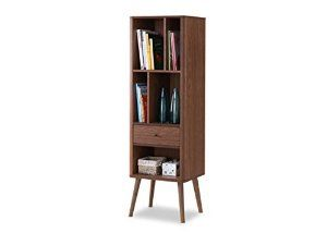 Amazon.com: Baxton Furniture Studios Ellingham Mid-Century Retro Modern Cabinet Bookcase Organizer: Kitchen & Dining