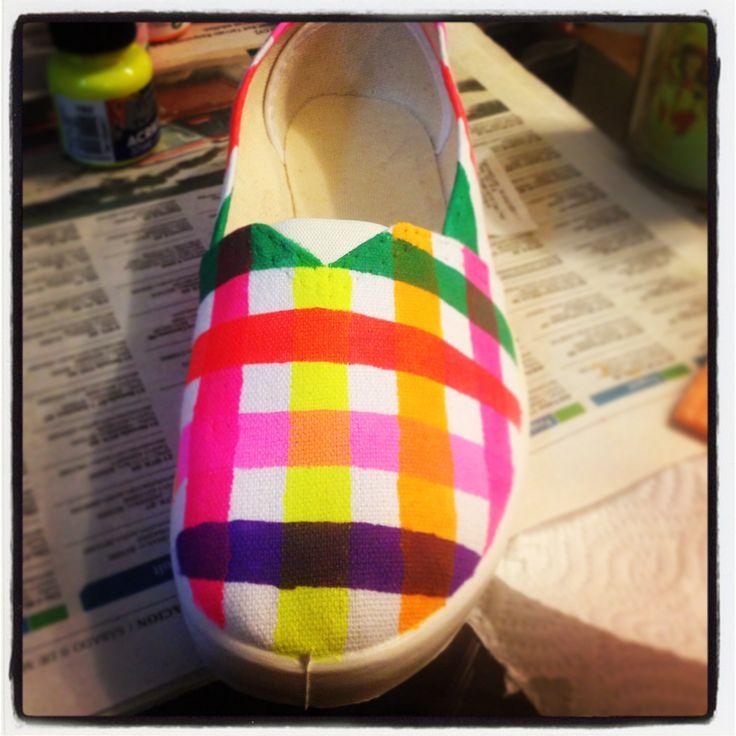 Zapatillas pintadas a mano #DIY #handmade