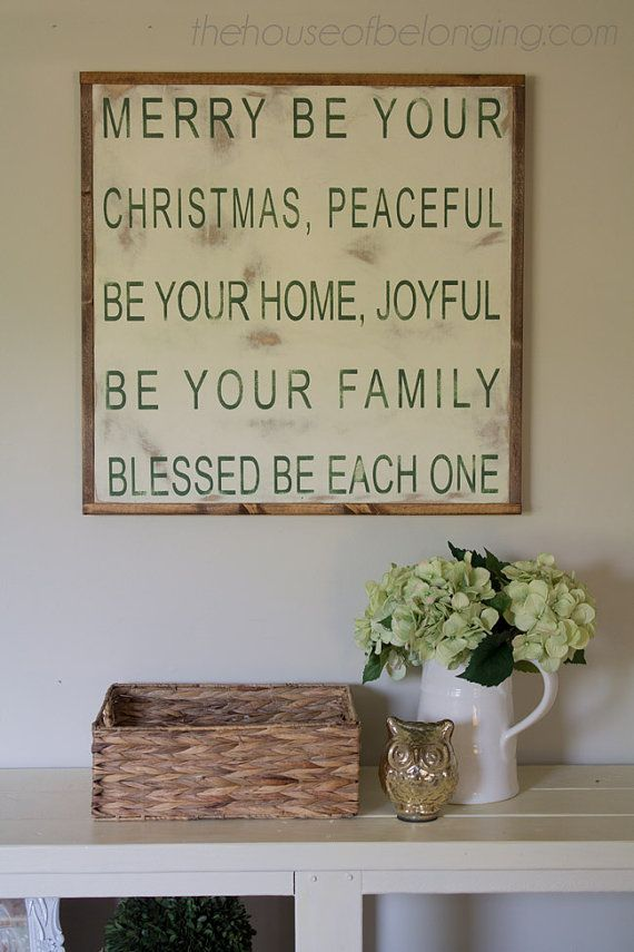 Merry be Your Christmas Wood Sign by TheHouseofBelonging on Etsy, $100.00