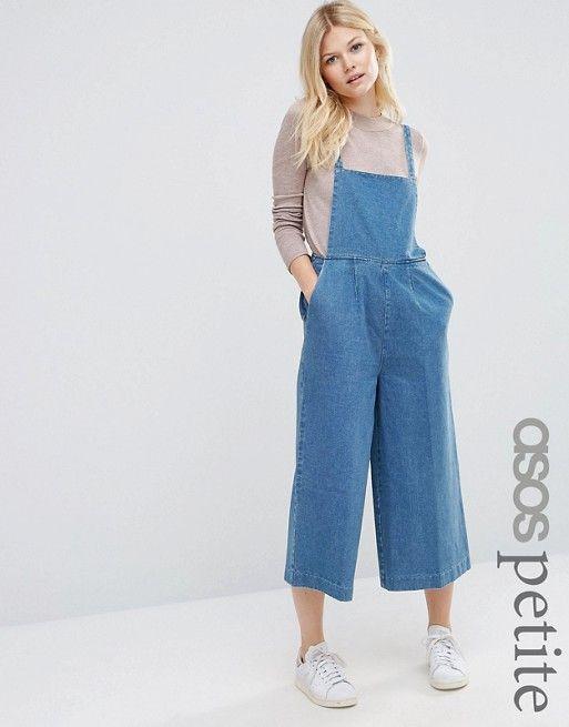 ASOS Petite | ASOS PETITE - Salopette courte minimaliste en jean