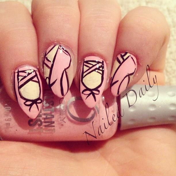 ballet  by jvnaildesign  #nail #nails #nailart