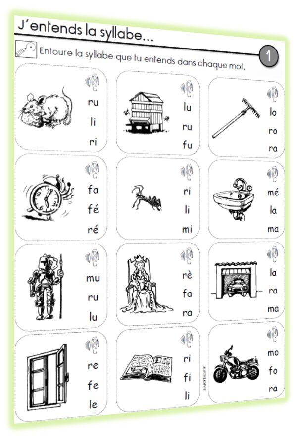 Exercices de lecture / phonologie - CP - Chez Lutin Bazar