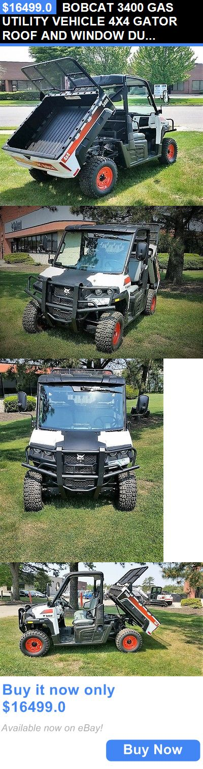 heavy equipment: Bobcat 3400 Gas Utility Vehicle 4X4 Gator Roof And Window Dump Body BUY IT NOW ONLY: $16499.0