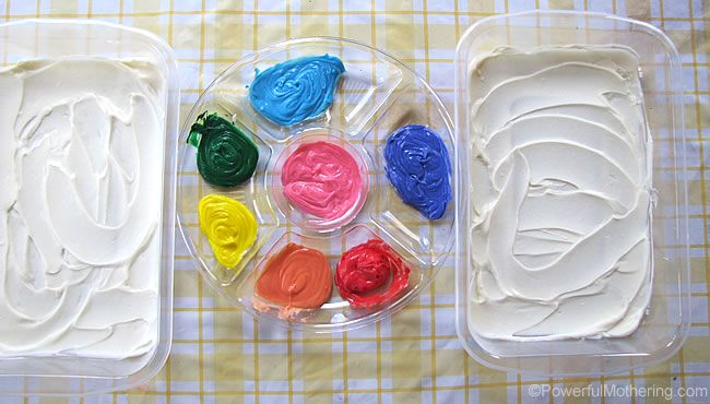 shaving cream art instructions
