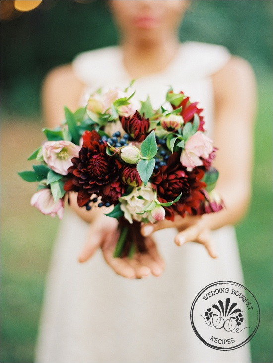 Dahlias & Blueberries: Bridal Bouquets, Dahlia Wedding Bouquets, Dahlias Bouquets, Dahlias Wedding Bouquets, Velvet Ribbons, Black Dahlias, The Bride, Blueberries Wedding, Flowers