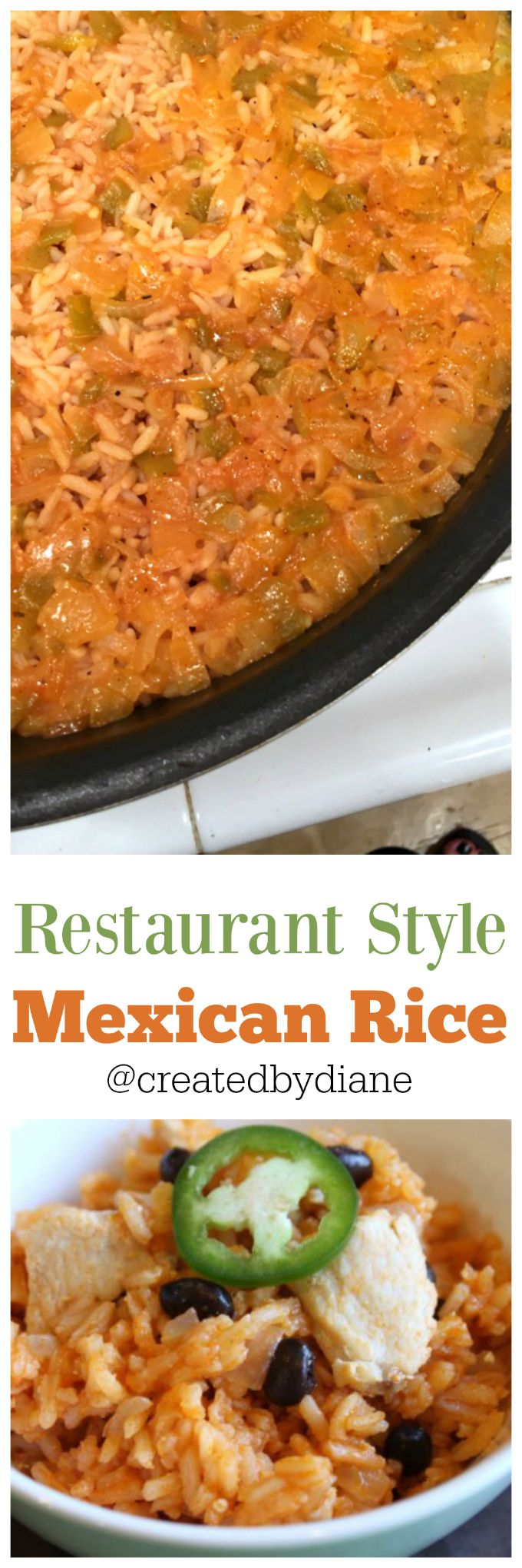 Restaurant style Mexican Rice recipe you can make at home easily and quickly.