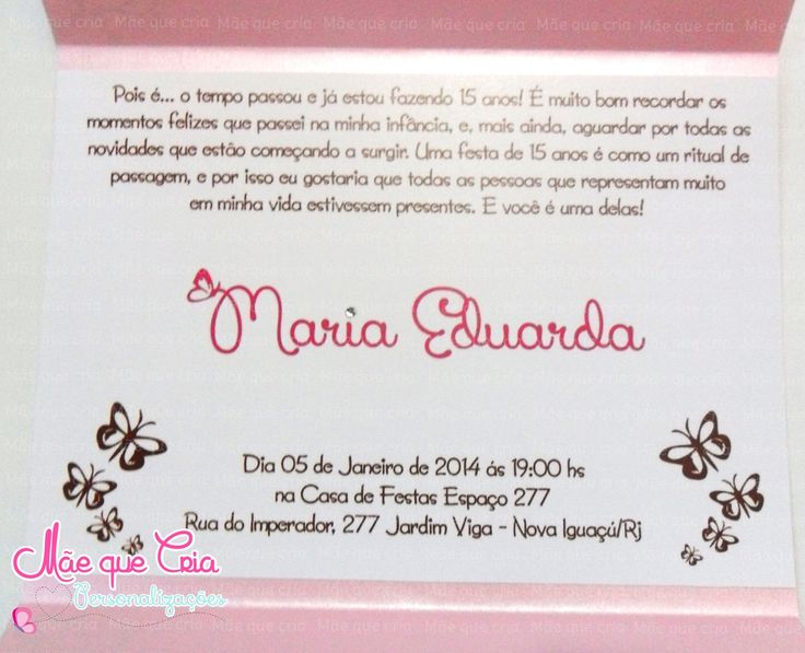 Frases Para 15 Anos: 1000+ Images About Convite De 15 Anos On Pinterest