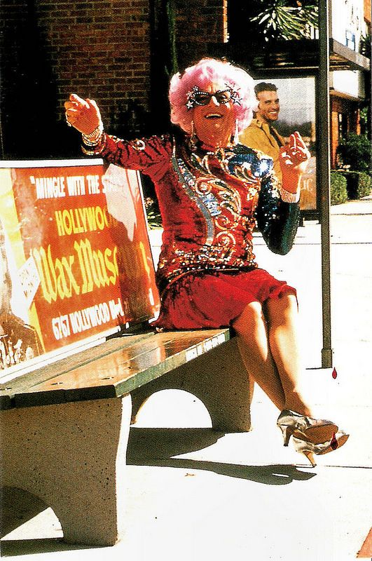 Barry Humphries as Dame Edna. American postcard by The American Postcard Co…