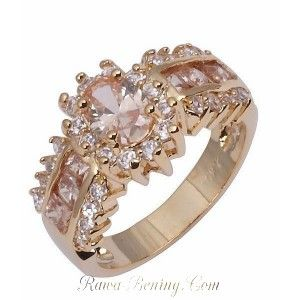 Cincin Fashion Champagne Topaz Cz