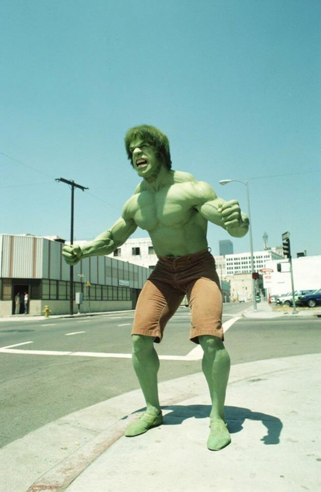 Lou Ferrigno as The Incredible Hulk.