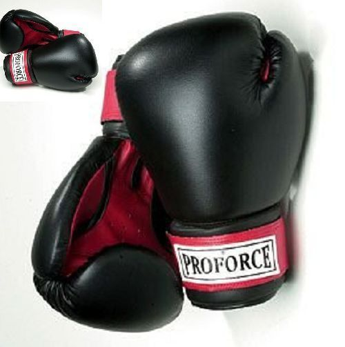 10 OZ MMA Boxing Practice Training Gloves Sparring Punching Hook Loop Black New  #10OZMMA