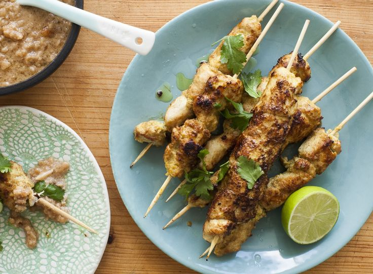 Thai chicken satay skewers