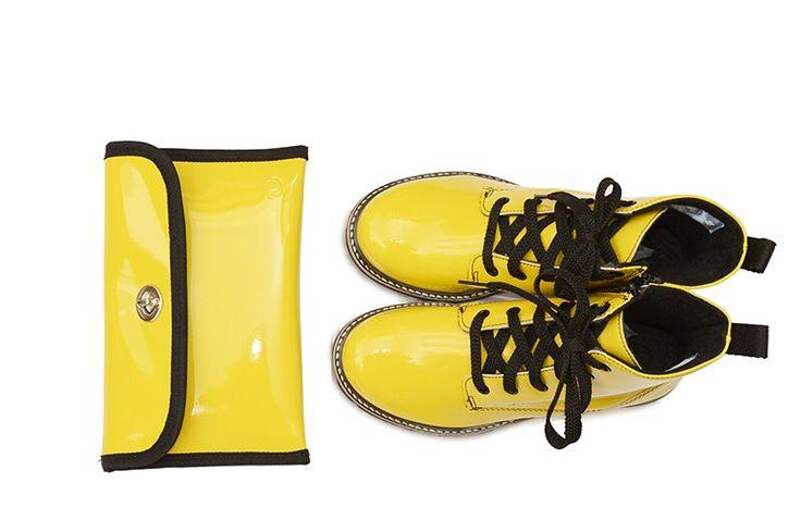 Nina  #boots #yellow #footwear