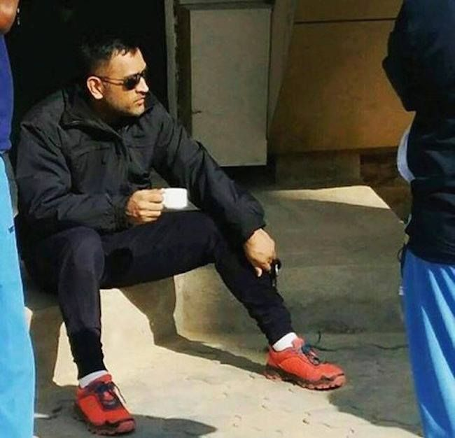 MS Dhoni in his cool winter look - http://ift.tt/1ZZ3e4d