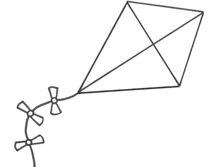 Kite Coloring Pages Free Printable Kite Coloring Pages Pictures Coloring Pages Kite Template Coloring Pages For Kids