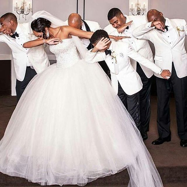 Its called the dab dance!pic via @weddaily #bride #groomsmeninspiration #wedding…