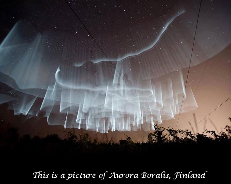 The Memes Factory  This is a picture of Aurora Boralis, Finland