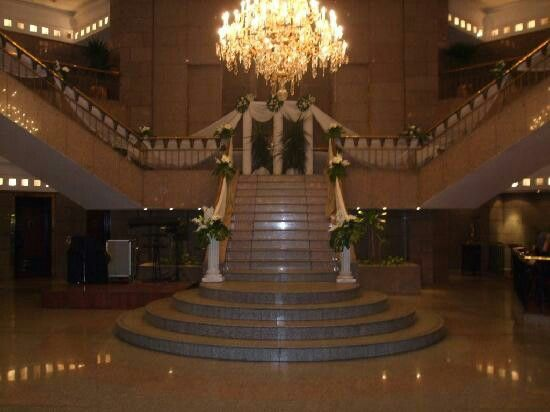Lobby,le meridian pyramids hotel giza Egypt