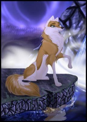 White Anime Wolves