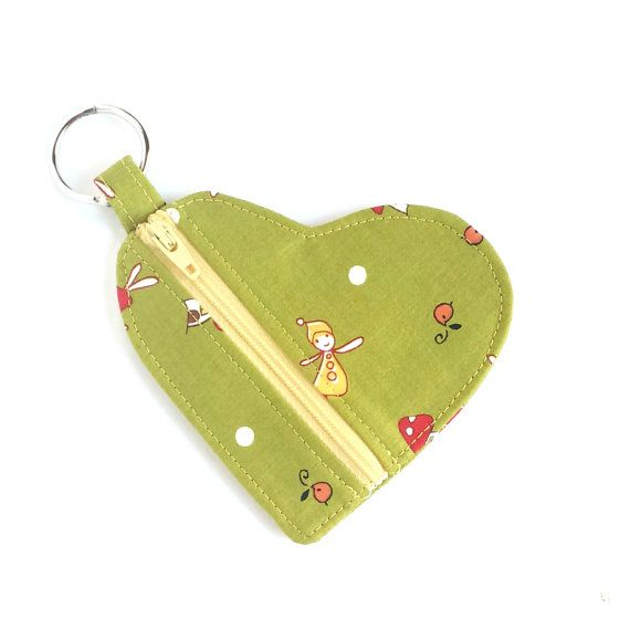 Carry your coins, lipstick or ear buds in this sweet keyring pouch! The hinged ring can be pulled open and squeezed close, so you can attach some keys, or a palm size torch to the zip purse. Also perfect for that quick dash to the shops before school pick up time. Just hook on your house keys, throw in some change and a few notes, and youre all set for that super speedy shopping trip!  Parents will find this a great little change purse for their kids to carry some lunch money to school…