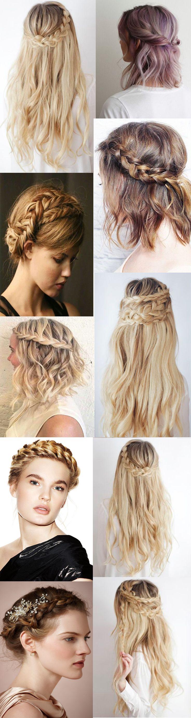 35 hairstyles for wedding long hairstyles 2016 2017 - Crown Wedding Braids Hairstyles 2016 2017 Summer Spring