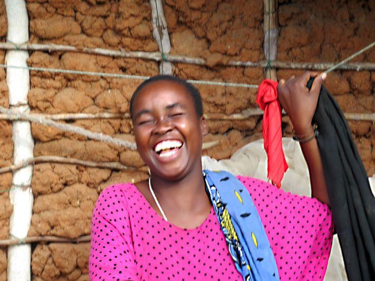 A local woman on Kilwa Kisiwani Island, Tanzania, shares a laugh.