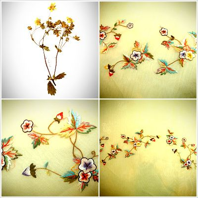 Delicate flower embroidery for Korean hanboks. 한복,이선영한복,천