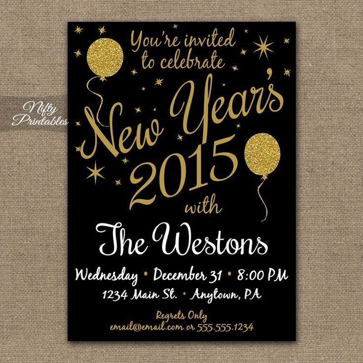 288 best 2015 new year party ideas images – Free New Years Eve Party Invitations