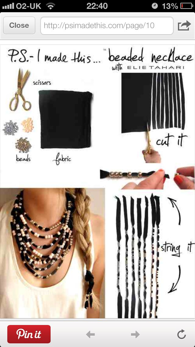 DIY necklace- alriiiiiight fine, I like it. Norm don't really like the tutes from this site but this one is cute