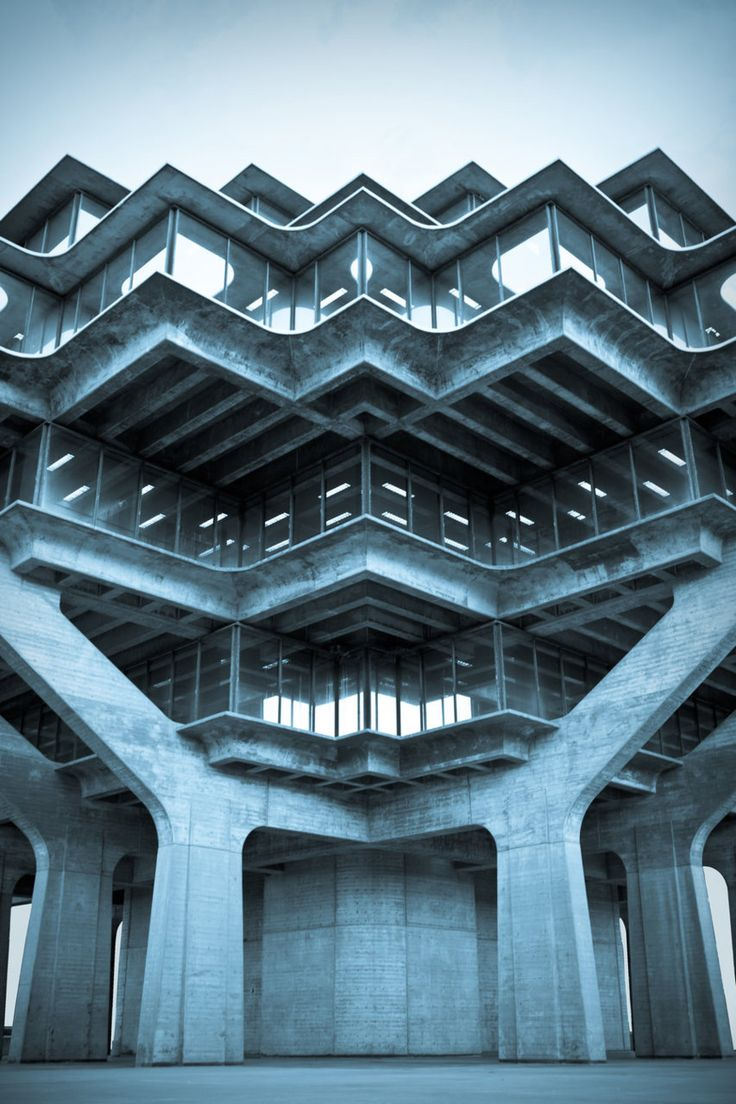 Central Library, University of California San Diego, 1970  (William Pereira)