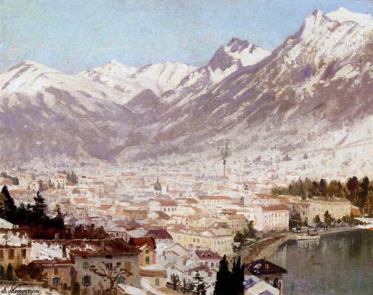 Une vue de Côme de Adelsteen Normann (1848-1918, Norway)